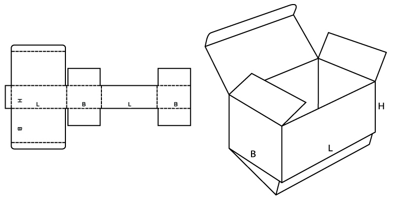 Простая коробочка своими руками из картона
