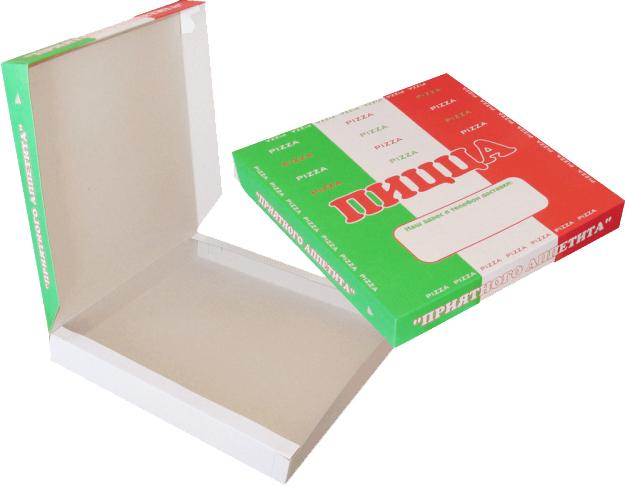 коробок под пиццу с логотипом